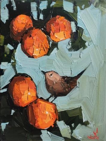 Wren On The Orange Tree