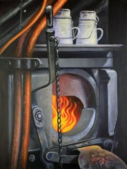 Steam Train Fire Box S.V.R