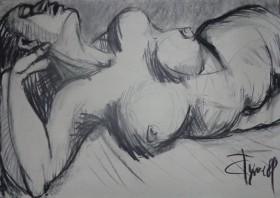 lying down nude woman