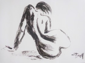 back nude resting