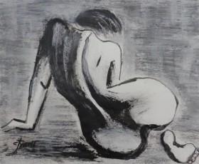 back female nude resting
