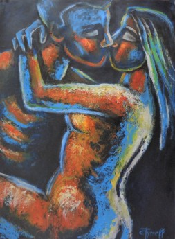 man and woman embraced lovers