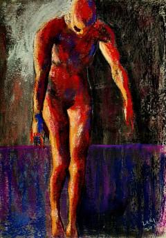 dark male figure