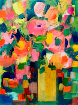 Summer Flowers in a Yellow Vase III