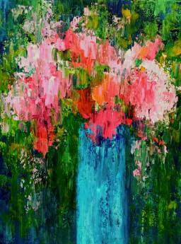 Bouquet on Blue VIII