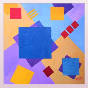Dynamic  Abstraction with Blue Square