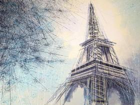 Paris - The Eiffel Tower As Night Falls