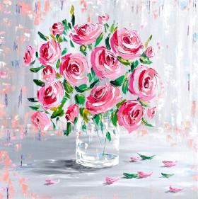 Flowers impasto