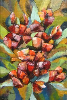 Blooming Poppies - oil on canvas