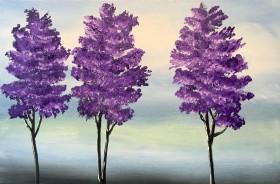 3 Purple Trees