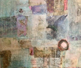 Humming birds Organic Abstract collage
