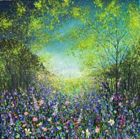 Colourful Woodland with Bluebells