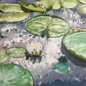 Impasto Water Lilies
