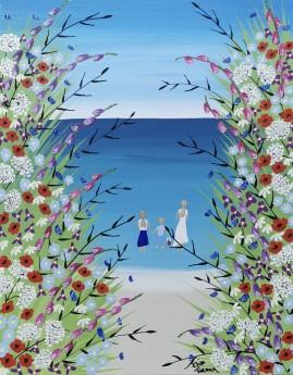 Contemporary beach painting