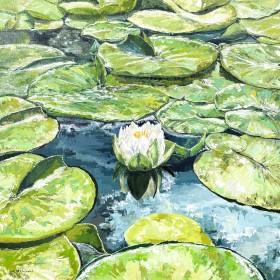 Water Lilies Impasto
