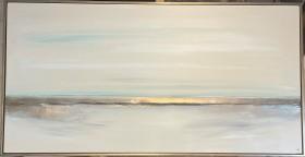 Shimmering coastline 2 & gold frame
