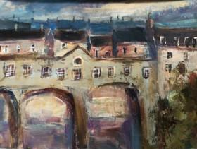 Bath city English art Bridge