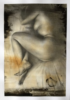 Nude drawing on paper