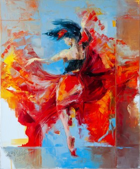 dance, passion, flamenco, heart, female, woman, dress, wild, free, freedom, figurative