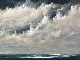 Seascape with Turner style sky and clouds