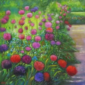 Floral Display of Alliums