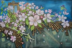 Apple Blossom,Orchard,Hardwick Hall.