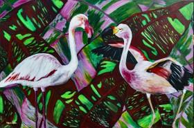 Sister Flamingos