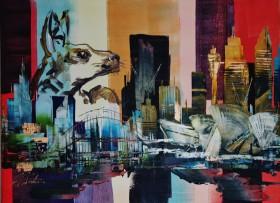 Australia City Skyline Kangaroo 0482