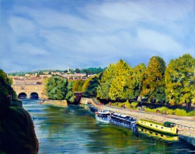 Autumn Colour By The River painting for sale