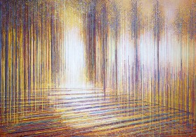 Autumn Trees At Sunset Composition #5