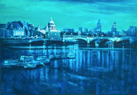 London Blues from st Paul's to the Gherkin