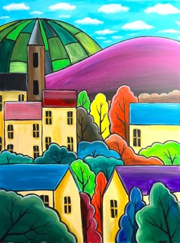 Bright Colourful Town