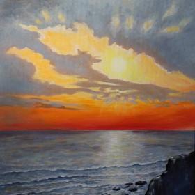 morning sunrise over the sea
