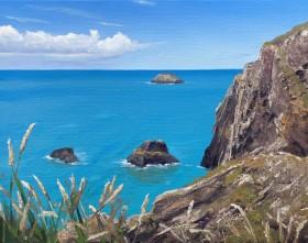 Pembrokeshire Cliffs, Seascape, Pembroke, Turquoise seas