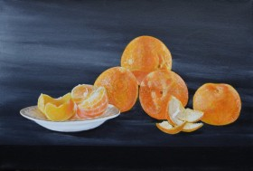 Clementines with White Dish