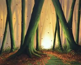 A carpet of golden leaves