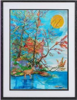 Deer framed