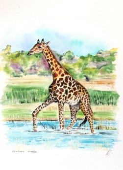 geometric artGiraffe wall artAnimal lover giftPicture of giraffeGiraffe runninggiraffe in the wildColourful giraffe