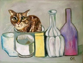 Troy the cat  Artwork with cat  Cute cat