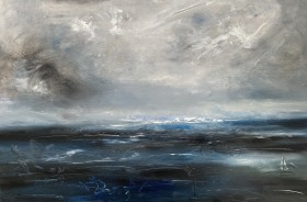 Grey and white sea