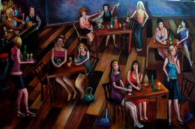 Quirky figurative painting