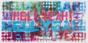 graphic street art painting