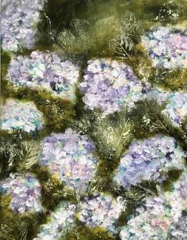 Floral  flowers hydrangeas summer gardens