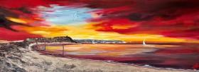 Hengistbury Head under Golden Sunrise