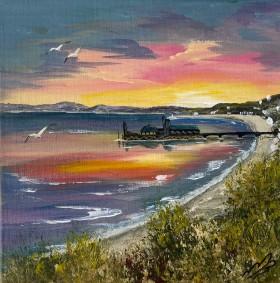 Bournemouth Pier Orange Sunset