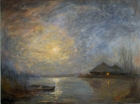 Home: Moonlit Sky And Boat