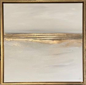 Champagne Sands & Gold Frame
