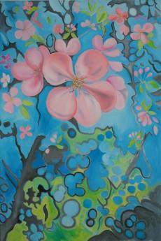 Hardwick Hall Apple Blossom & Shadows.