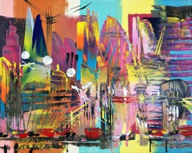 London Cityscape Abstract 714