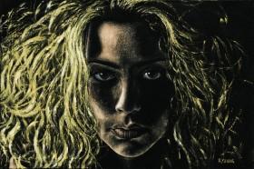 Fine art contemporary female portrait